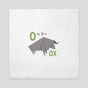 O Is For Ox Queen Duvet