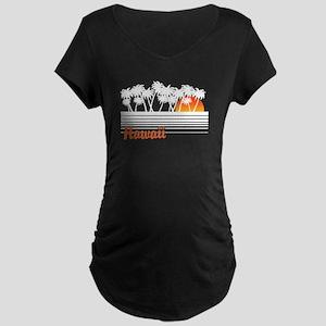 Hawaii Maternity Dark T-Shirt
