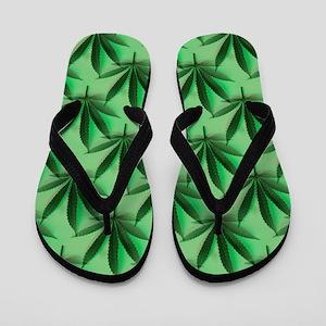Cannabis Leaves Flip Flops