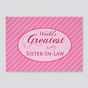World's Greatest Sister-In-Law (Pin 5'x7'Area Rug