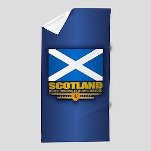 Flag of Scotland Beach Towel