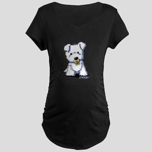 KiniArt Baby Westie Maternity Dark T-Shirt