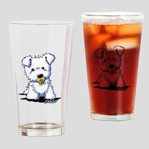 KiniArt Baby Westie Drinking Glass