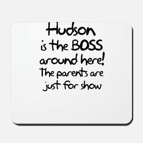 Hudson is the Boss Mousepad