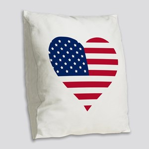 GOD BLESS THE USA HEART SHAPED AMERICAN FLAG Burla