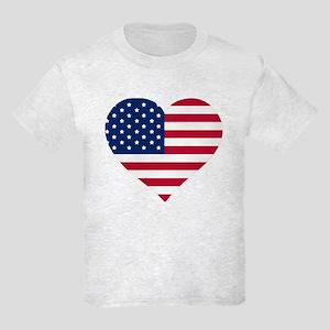 God Bless The Usa Heart Shaped American T-Shirt