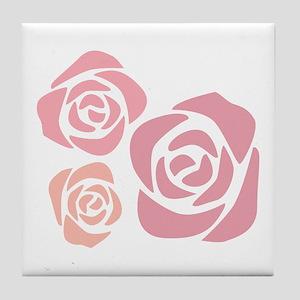 Lovely Roses Tile Coaster