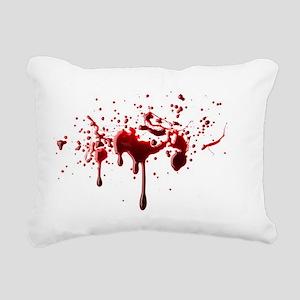 blood spatter 3 Rectangular Canvas Pillow