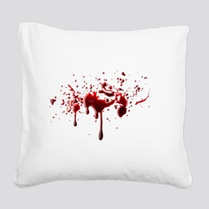 blood spatter 3 Square Canvas Pillow