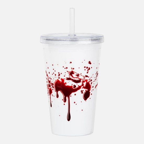 blood spatter 3 Acrylic Double-wall Tumbler