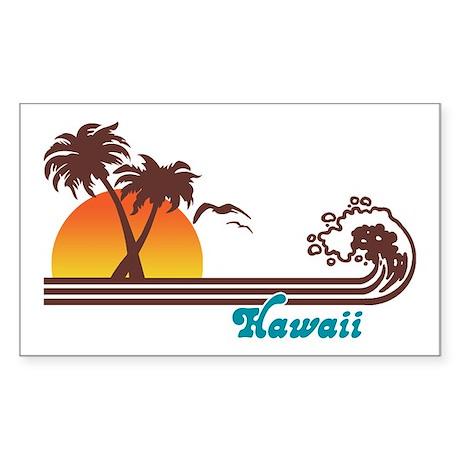 Hawaii Rectangle Sticker
