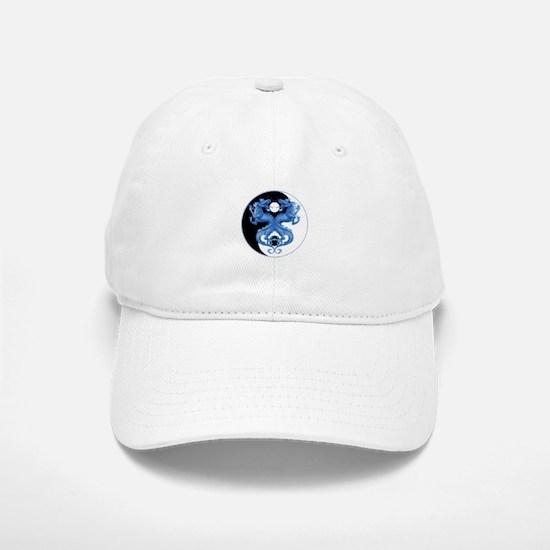 Yin Yang Dragons Blue Baseball Baseball Cap