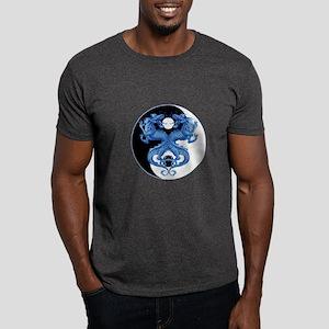 Yin Yang Dragons Blue Dark T-Shirt