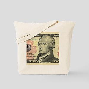$10 Alexander Hamilton Portrait Tote Bag