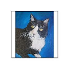 Tuxedo Cat Art Sticker