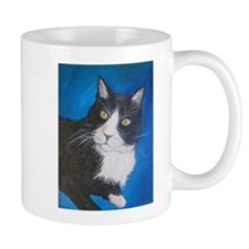 Tuxedo Cat Art Mugs