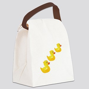 Cute Ducklings Canvas Lunch Bag