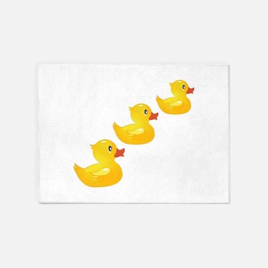 Cute Ducklings 5'x7'Area Rug
