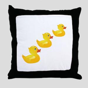 Cute Ducklings Throw Pillow