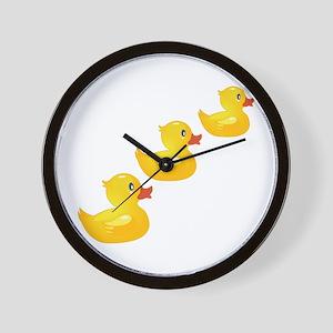 Cute Ducklings Wall Clock
