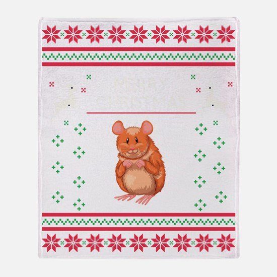 Funny Gerbils Throw Blanket