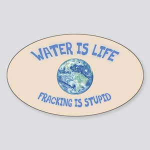 Water Is Life Sticker (Oval)