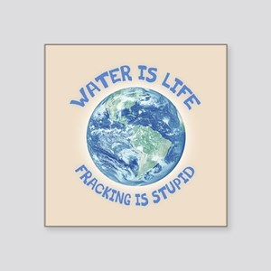 """Water Is Life Square Sticker 3"""" x 3"""""""