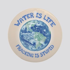 Water Is Life Ornament (Round)