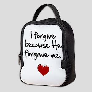 I forgive because He forgave me Neoprene Lunch Bag