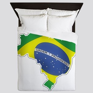 Brazilian Flag Queen Duvet
