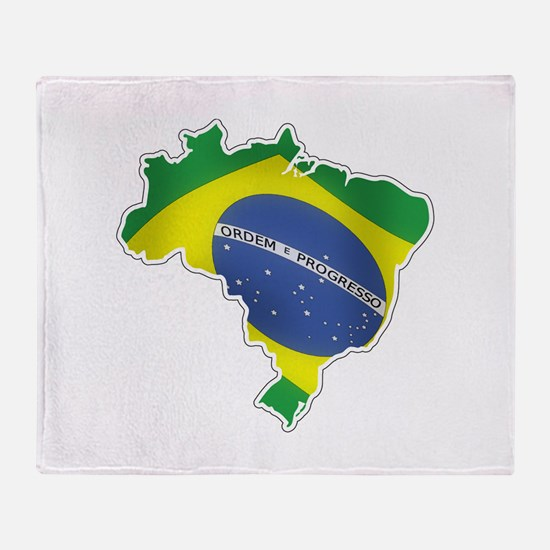 Brazilian Flag Throw Blanket