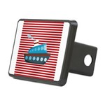 Nautical Cruise Ship on Red White Hitch Cover