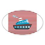 Nautical Cruise Ship on Red White Sticker