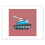 Nautical Cruise Ship on Red White Posters