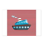 Nautical Cruise Ship on Red White Postcards (Packa
