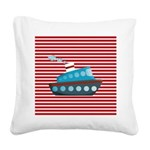Nautical Cruise Ship on Red White Square Canvas Pi