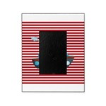 Nautical Cruise Ship on Red White Picture Frame