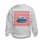 Nautical Cruise Ship on Red White Sweatshirt