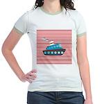 Nautical Cruise Ship on Red White T-Shirt