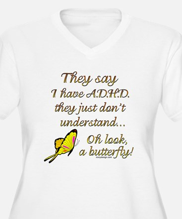 ADHD Butterfly Plus Size T-Shirt