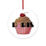 Paris Cupcake Ornament (Round)