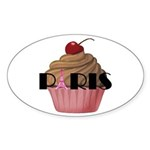 Paris Cupcake Sticker