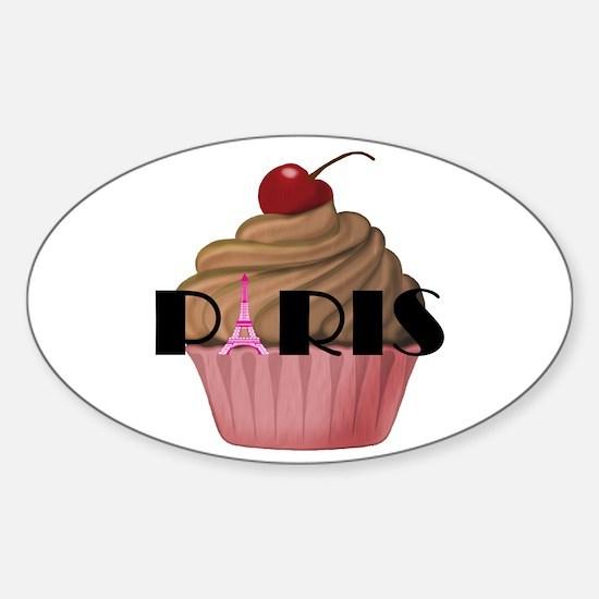 Paris Cupcake Decal