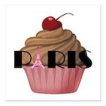 Paris Cupcake Square Car Magnet 3