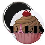 Paris Cupcake Magnets