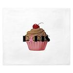 Paris Cupcake King Duvet