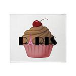 Paris Cupcake Throw Blanket
