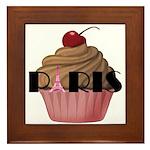Paris Cupcake Framed Tile