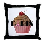 Paris Cupcake Throw Pillow
