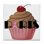 Paris Cupcake Tile Coaster